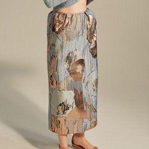 Vika Gazinskaya Metallic Midi Skirt Blue Column